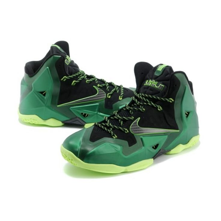 Top LeBron James XI Men Shoes in Black Green, cheap Nike Lebron If you want  to look Top LeBron James XI Men Shoes in Black Green, you can view the Nike  ...