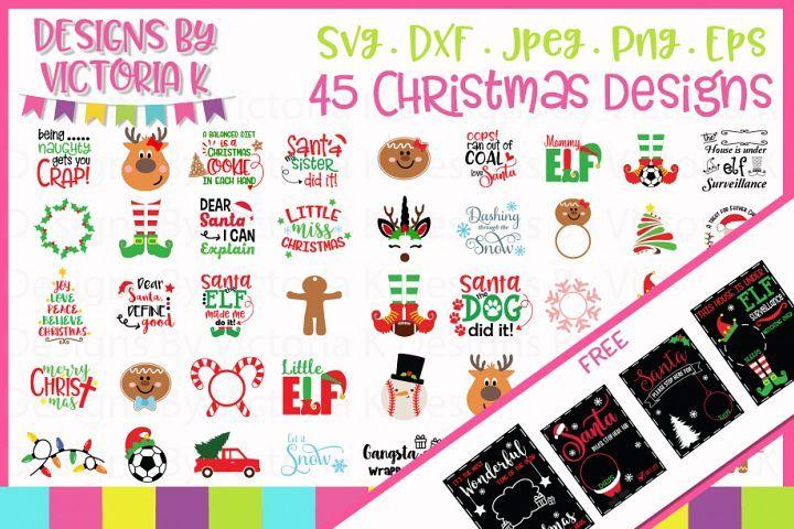 Download Christmas Bundle Plus 4 Free Chalkboards Svg Dxf Eps Png 99233 Svgs Design Bundles Christmas Bundle Svg Christmas Svg Files