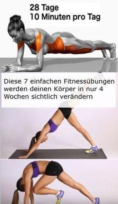Diese 7 einfachen Fitnessübungen werden deinen Körper in nur 4 Wochen sichtlich verändern