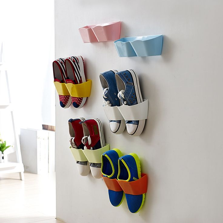 Creative Home Furniture Wall Hanging Shoes Rack Organizer Holder Portable Storage Shelf for Shoes Space Saver(China (Mainland))