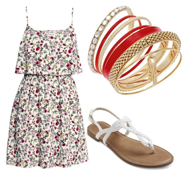 summer/spring by tayken3 on Polyvore featuring polyvore mode style H&M Thalia Sodi fashion clothing