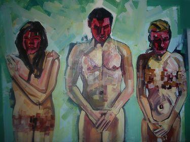 "Saatchi Art Artist Piotr Kachny; Painting, ""Mrs MXYXYR"" #art"