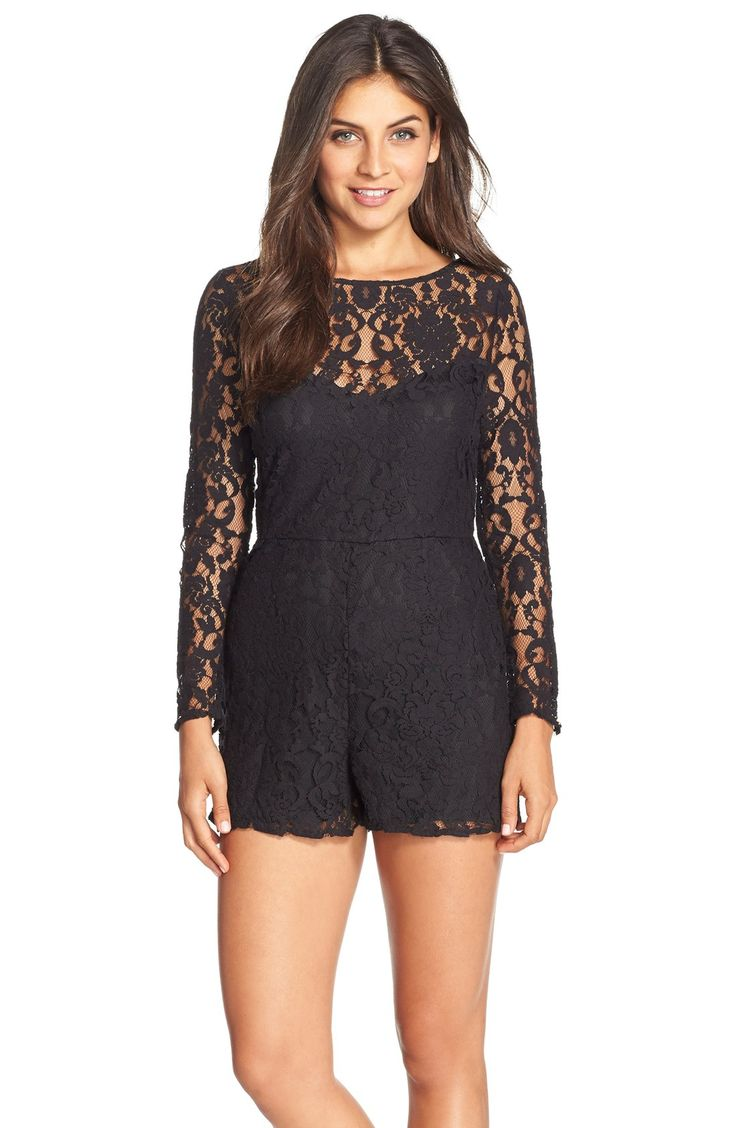 Black Jumpsuits Amp Rompers For Women | Best Romper Shorts For Women | Pinterest | Rompers Lace ...