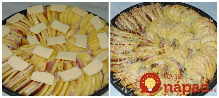 Výborné zemiaky so slaninkou, cibuľkou a cesnakom. Jemne pikantné a vynikajúce!
