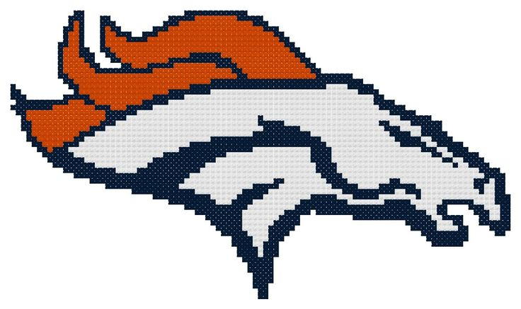 I'm selling Counted Cross Stitch Pattern, Denver Broncos Logo - Instant Download - $3.75 #onselz