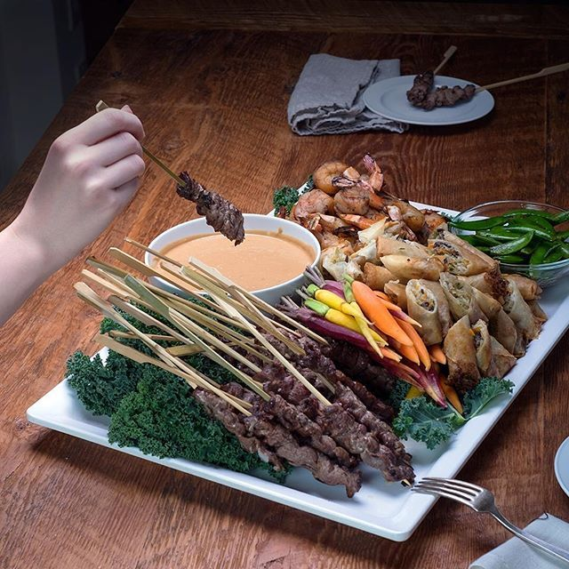Our Pan-Asian Platter #savourycity #catering #yvreats #tapas #corporatecatering #feedfeed