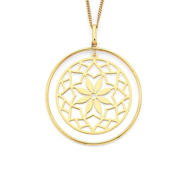 This gorgeous 9ct Flower Pendant is the perfect addition to your spring outfits