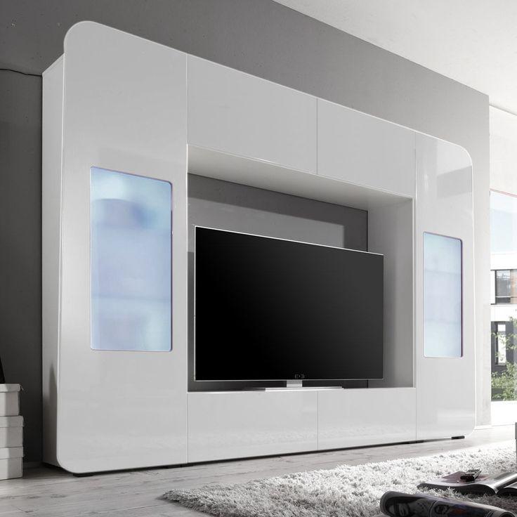 Die besten 25+ Tv wand ebay Ideen auf Pinterest Fliesenaufkleber - wohnzimmermöbel weiß hochglanz