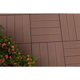 MetaWood Deck Tiles, Composite Ipe, Snap To Install, No Maintenance (Box of 11 tiles / sqft)