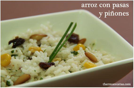 arroz con pasas y piñones 2 thermorecetas Arroz con pasas y piñones