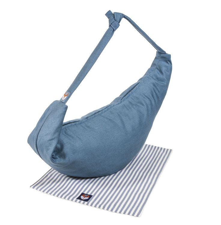 Bax & Bay  Luxury accessories for parents Blue Linen Bag with Mat  www.baxandbay.com www.alegremedia.com #alegremedia