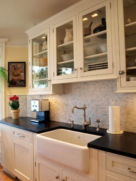 Over Sink Window Styles | The long, narrow configuration of the space dictated a fitted galley ...