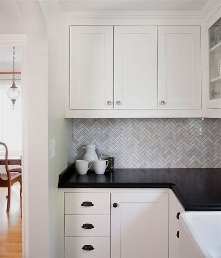 30+ Elegant Black And White Kitchen Cabinets Design Ideas ...