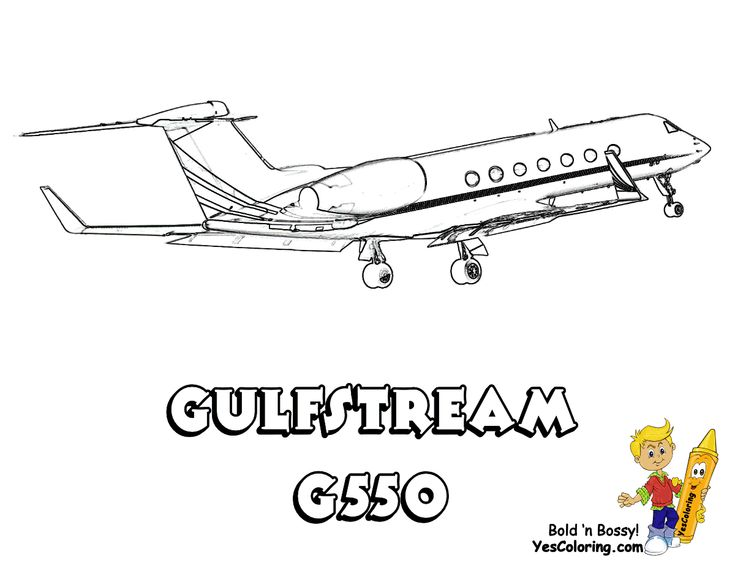 Gulfstream G550 Air Plane Coloring Page At YesColoring Yescoloring Airplane Printables