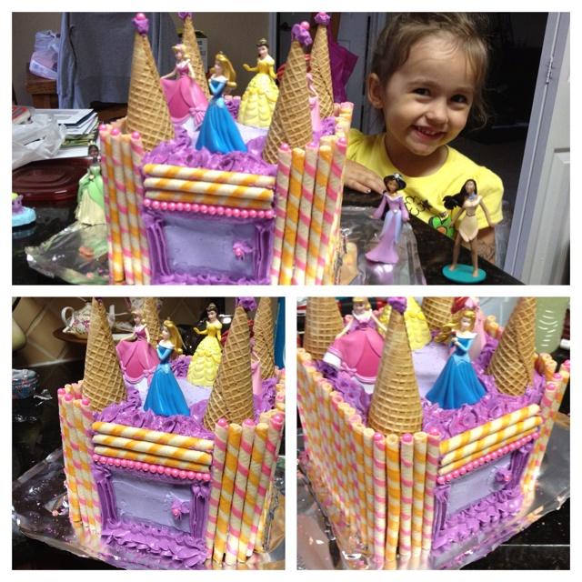 Princess Castle cake #cake #food #princess