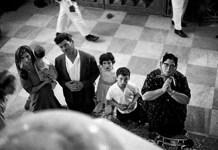 Ferdinando Scianna ITALY,Sicily, Altavilla Milicia: pilgrims in the Madonnas sanctuary. (Feste religiose in Sicilia)