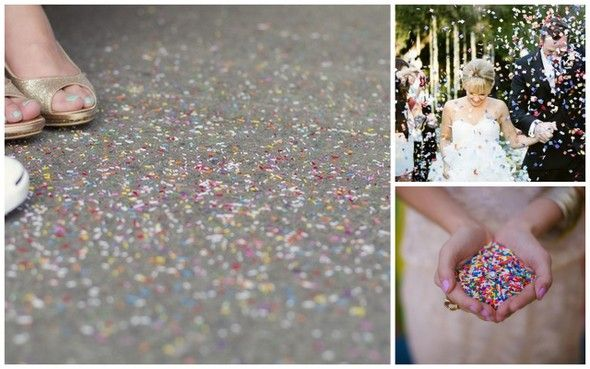 throw sprinkles instead of rice for a wedding!
