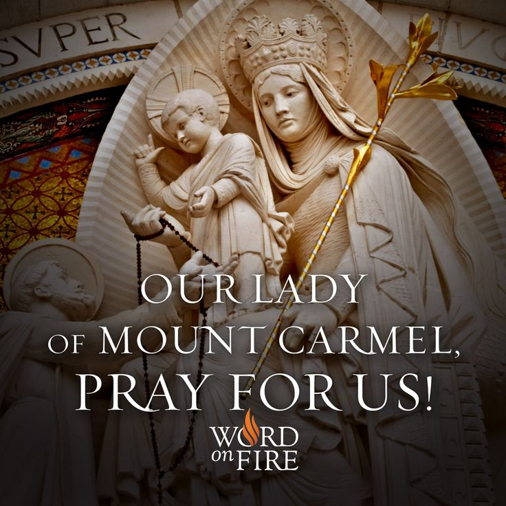 Our Lady of Mount Carmel, pray for us!