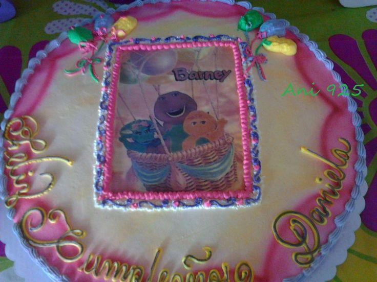 Pastel de Barney http://manualidadesamigas.foroargentina.net/