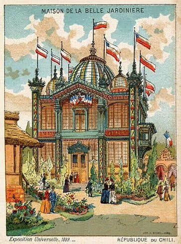 1889, Gráfica Pabellón de Chile, Exposición Universal, Paris-Francia