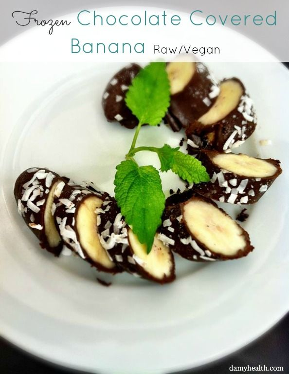 Frozen Chocolate Covered Bananas - Raw/Vegan - This simple dessert is perfect for summer entertaining!   /  #raw #rawdessert