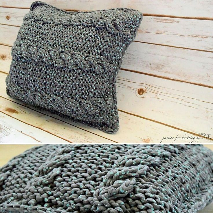 Grey Mints Knitted handmade pillow by DLThandmade.  Size:40x40 cm  https://www.facebook.com/DLThandmade/ #passionforknitting #DLThandmade #hoookedzpagetti