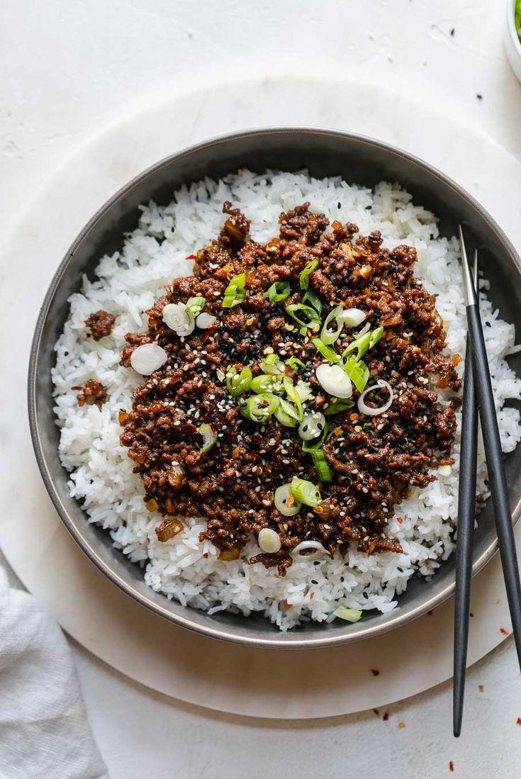 Korean Beef Easy Korean Ground Beef Recipe In 2020 Beef Bulgogi Recipe Ground Beef Bulgogi Recipe Bulgogi Beef