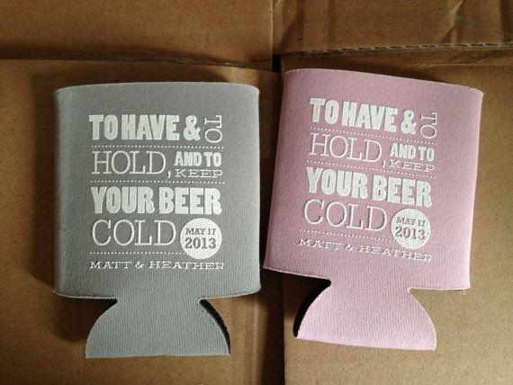 Cold Beer Koozie Custom Wedding Koozies By Rookdesignco On Etsy 79 00