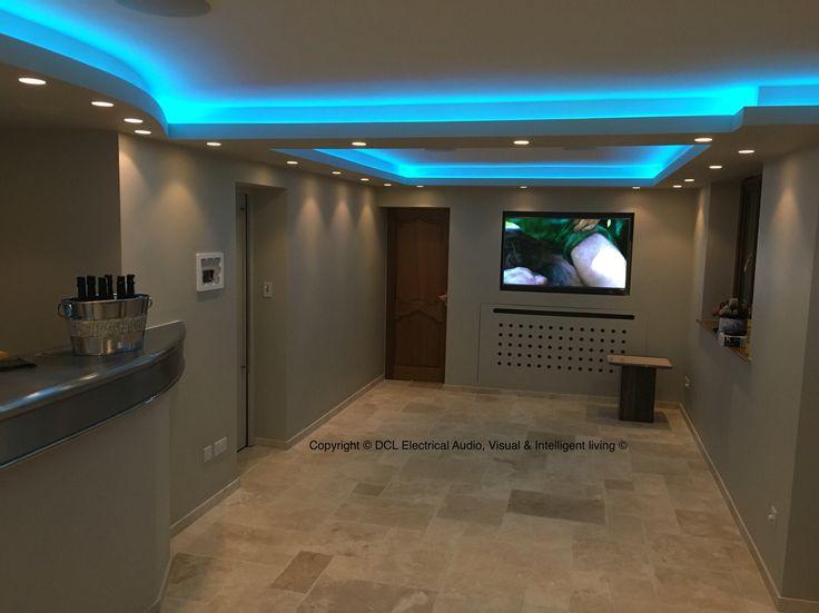 Basement bar/lounge  Led lighting ceiling