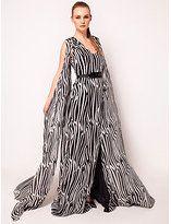 NG Style Geometrik Desenli Monokrom Elbise