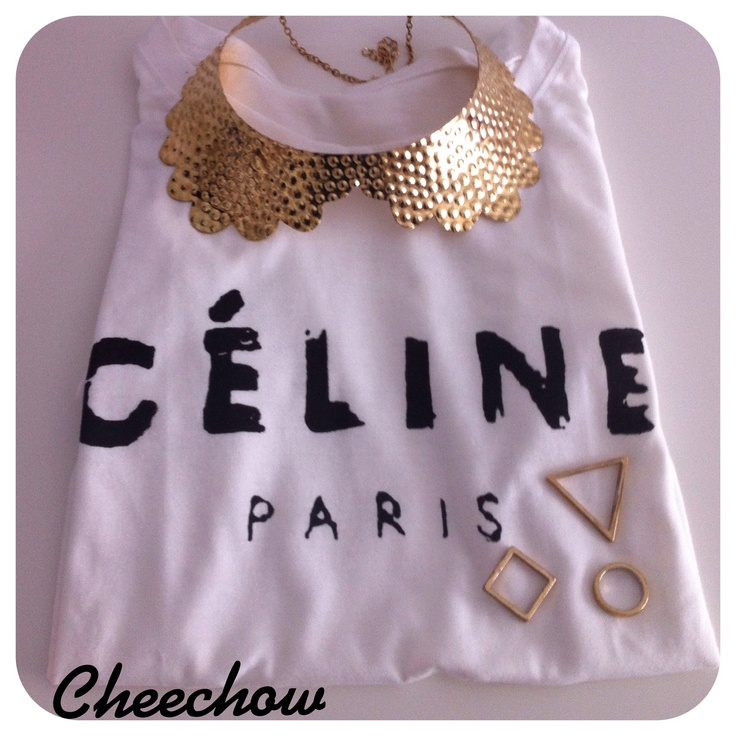 Celine t-shirt,collar necklace,cheap monday rings