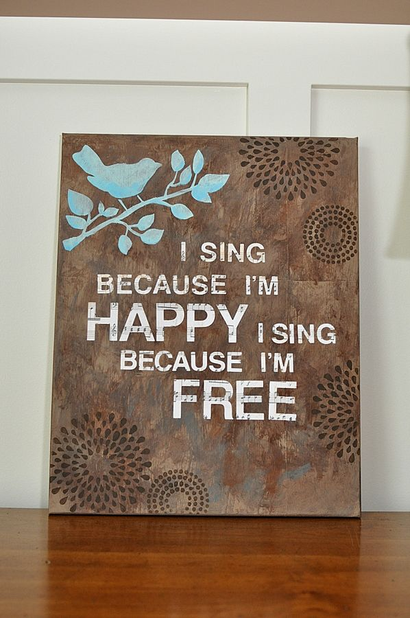 Love this... because I sing this song... His eye is on the sparrow.... and I know he watches me..... I sing because I'm happy
