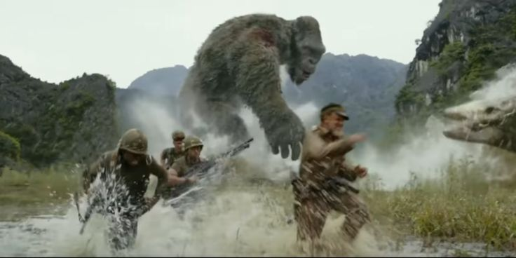 Kong: A Ilha da Caveira: King Kong volta a atacar em novo comercial