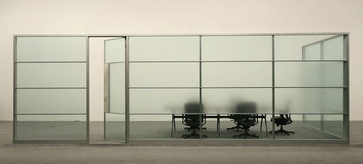 Plain Office Dividers Glass Wall Systems Transparency And