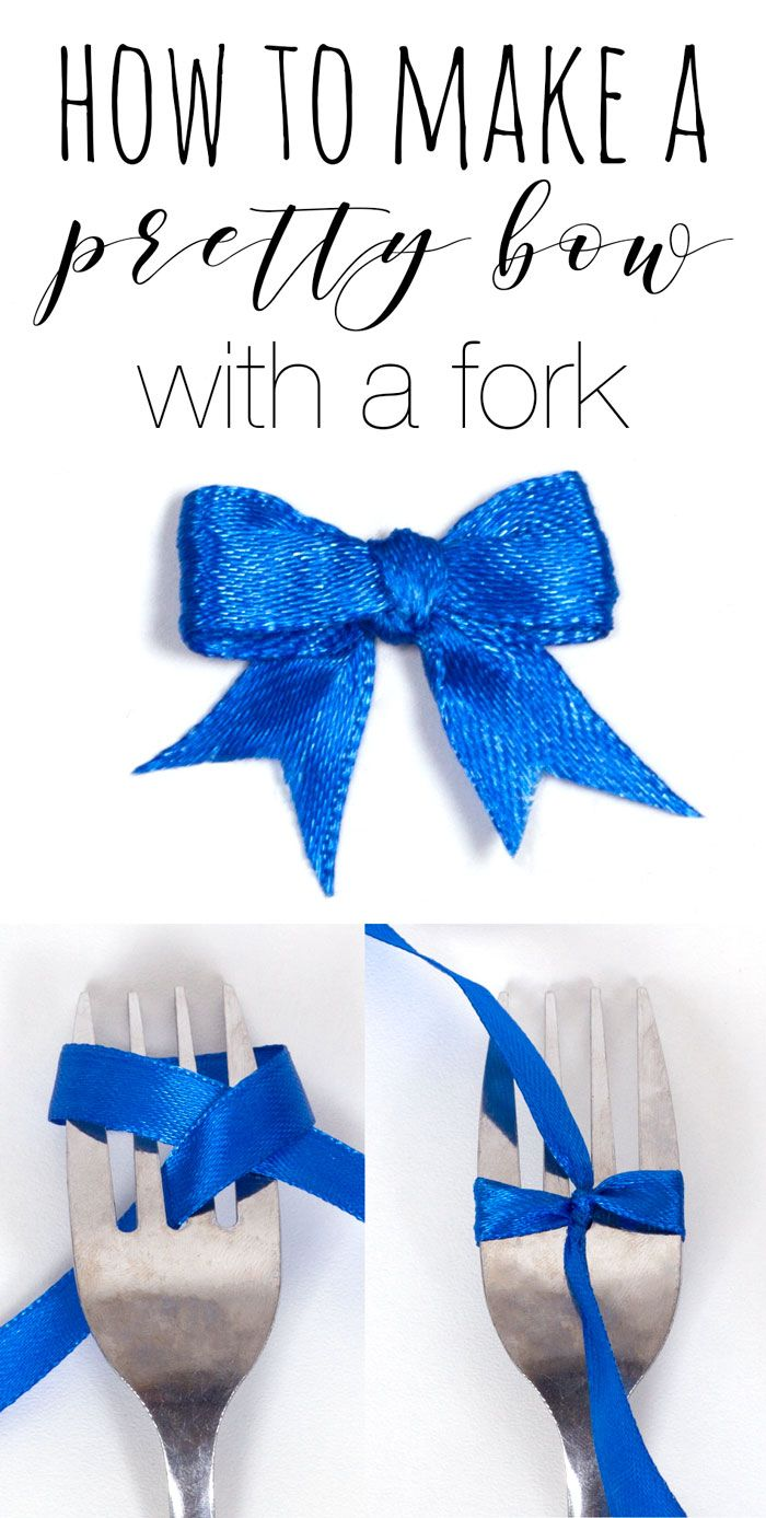 How to make a bow with a fork, learn how to make these cute bows with ribbon and a fork. Great for craft projects! Easy and simple craft tutorial