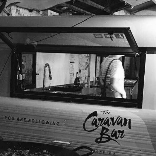 You are following The Caravan Bar Bendigo. A snap of the vans booty