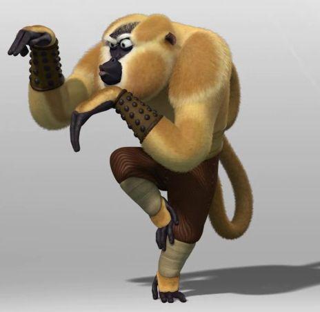 Monkey From Kung Fu Panda | Kung fu panda character of the MONKEY | cartoon kung fu panda