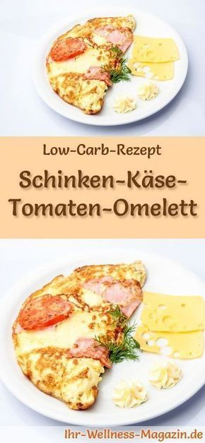 Low Carb Schinken, Käse und Tomaten Omelett – Gesundes Rezept zum Frühstück