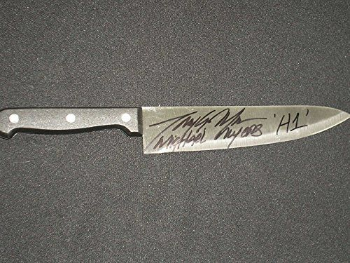 TONY MORAN Signed Steel Chef Knife Michael Myers Halloween I MORAN Signed Steel Michael Halloween has high ratings and popularity and is a great buy in the highest selling products online in Entertainment Collectibles category in USA. Click below to see its Availability and Price in YOUR country.