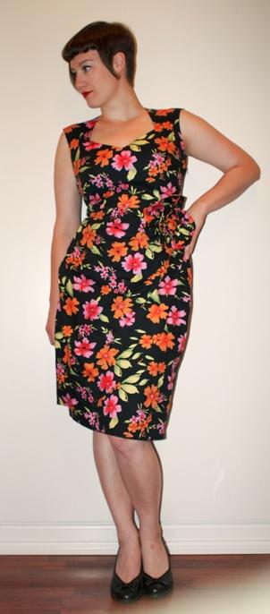 The hawaii fabric birthday dress. Self-drafted pattern.