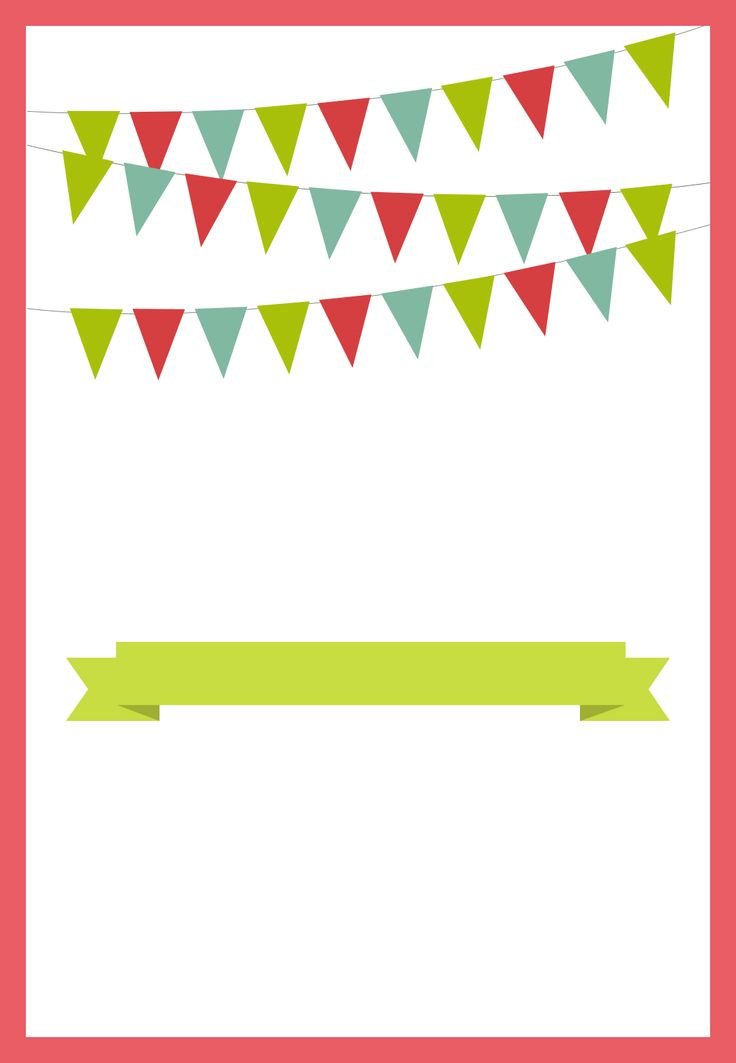 pennants and ribbon red