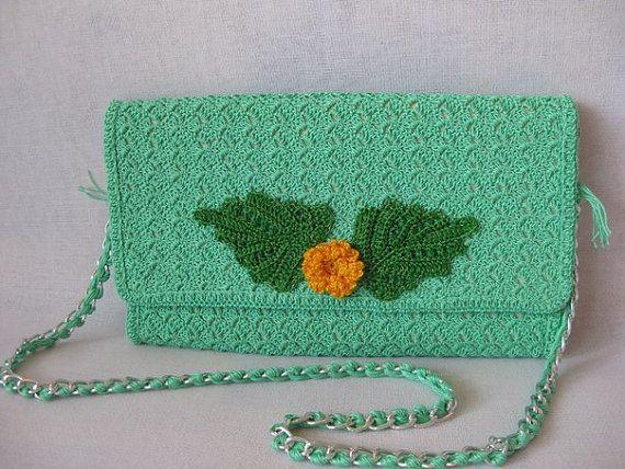 Bag-clutch from merserizovannogo cotton. Summer by KnitsUkraine