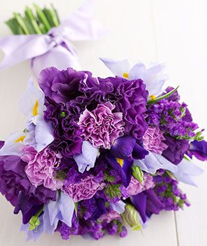 iris, statice, carnations - love support flowers
