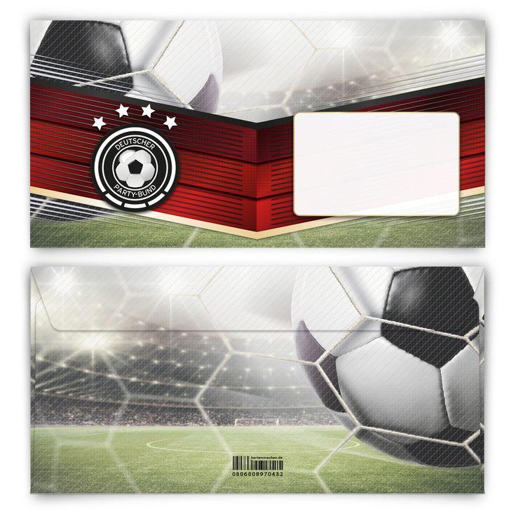 Deutscher Fußball, bester Fußball! (Briefumschlag, DIN Lang quer) #briefumschlag #papeterie #kreativ #fußball #em #wm #championsleague