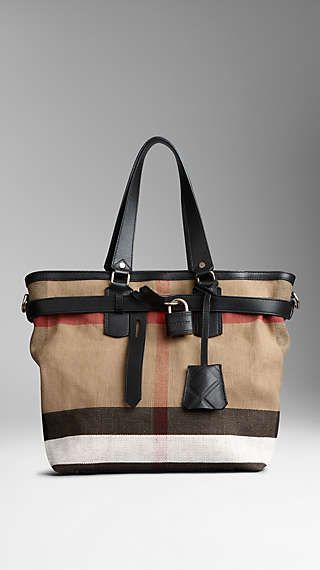 Canvas Check Traveller Bag