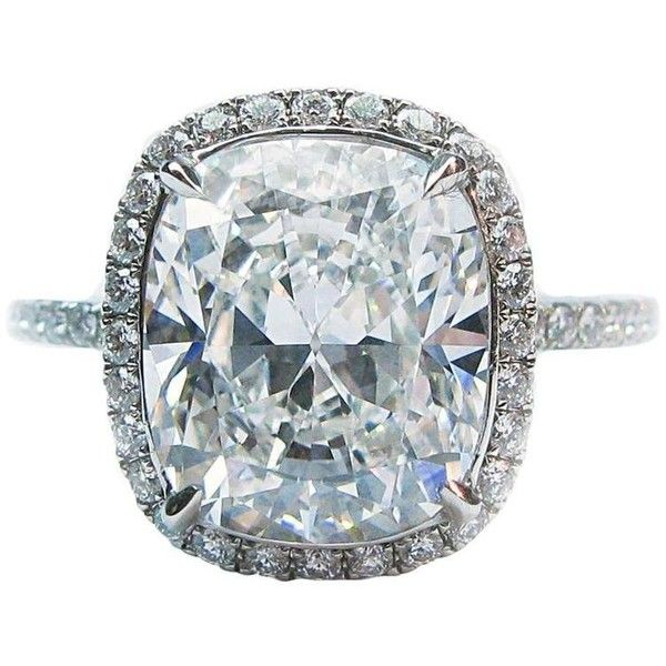 Preowned Harry Winston 4.44 Carat Gia Cert Diamond Platinum Wedding... ($138,000) ❤ liked on Polyvore featuring jewelry, rings, multiple, diamond eternity rings, eternity ring, platinum diamond rings, pave diamond ring and eternity engagement ring