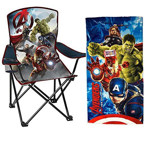 Marvel Avengers Age of Ultron Kids Folding Chair w/ Carry Case & Beach Towel Combo @ niftywarehouse.com #NiftyWarehouse #Thor #Marvel #Avengers #TheAvengers #Comics #ComicBooks