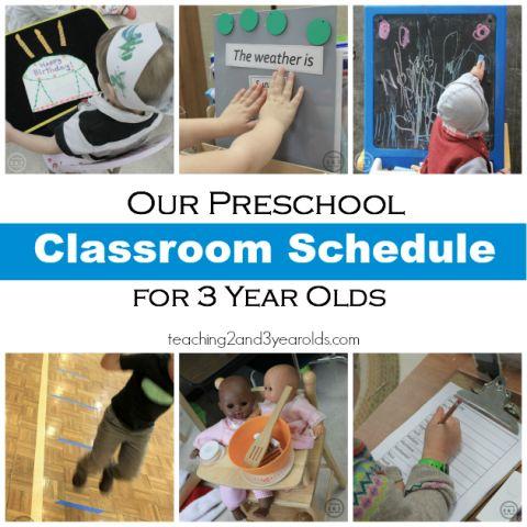 Preschool Classroom Schedule