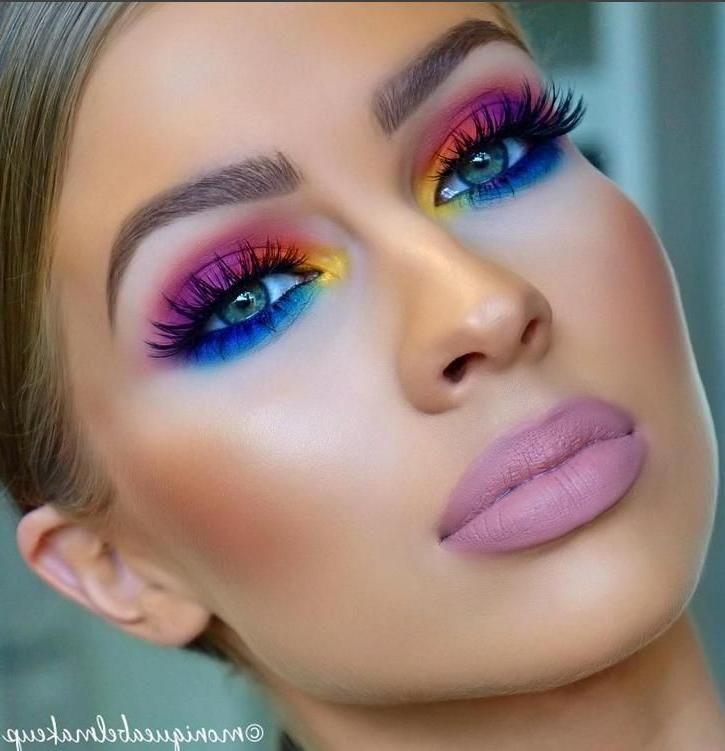 80 S Bright Eyeshadow The Eye Colors Are Sooooo 80 S The Lipstick