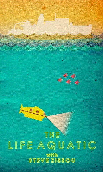 Wes Anderson - life aquatic Alle personages zijn vaak buitenbeentjes die samen dan weer een gek, niet voor de hand liggend geheel vormen. Hij cast vaak dezelfde acteurs voor zijn personages.